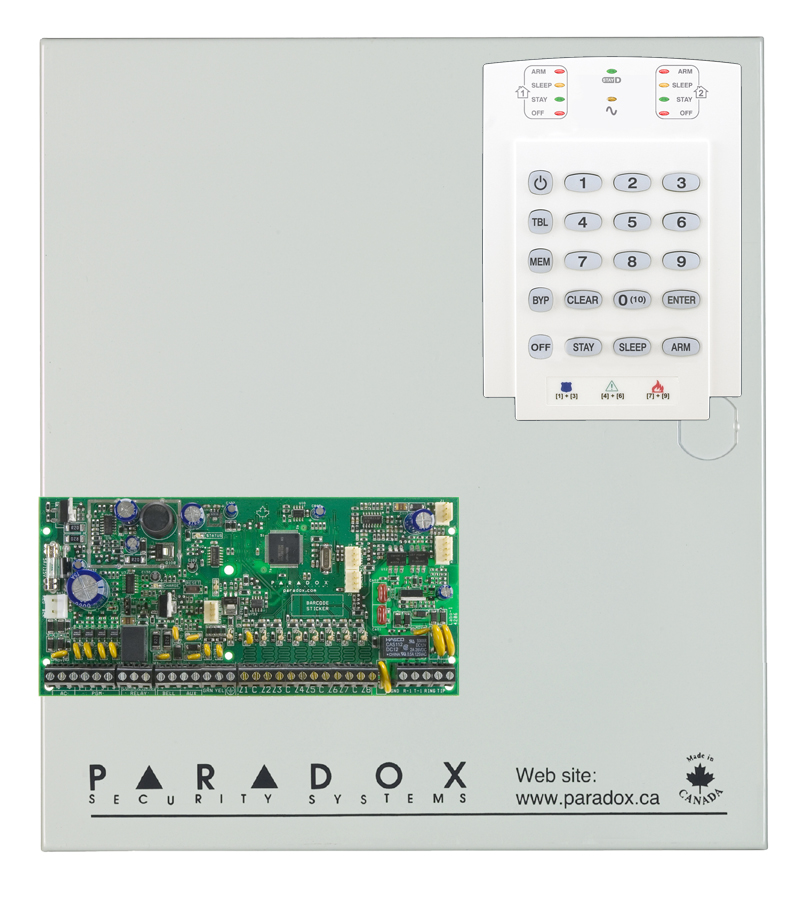 Centrale d'alarme Paradox Filiaire Spectra SP6000