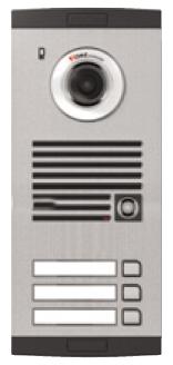 Platine de rue avec caméra couleur 3-boutons