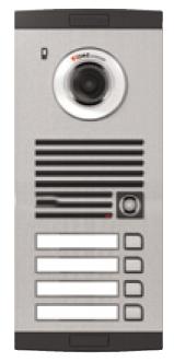 Platine de rue avec caméra couleur 4-boutons