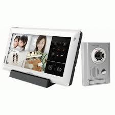 """Vidéophone mains Libres (10"""" LCD) équipé d'une carte SD 32G + Platine de rue MC30"""