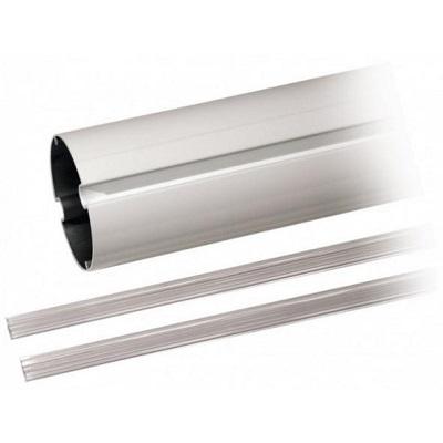 Lisse elliptique en aluminium blanc laqué, 4 m