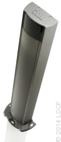 Colonne en aluminium laqué pour logement de photocellules
