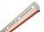 Lisse ronde ø 75 en aluminium anodisé de 4 m avec bandes rouges autocollantes réfléchissantes